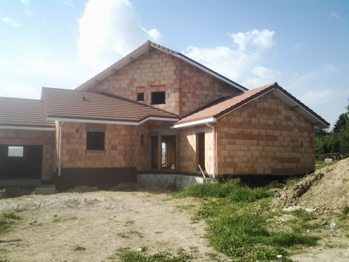 Construction Du0027une Maison En Briques Isolantes. Briques Monomur